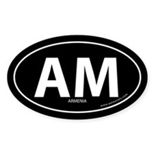 Armenia country bumper sticker -Black (Oval)