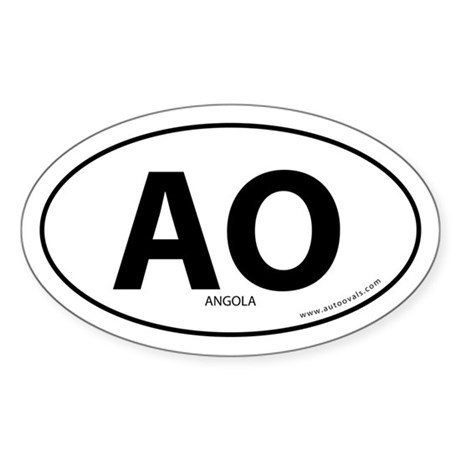 Angola country bumper sticker -White (Oval)