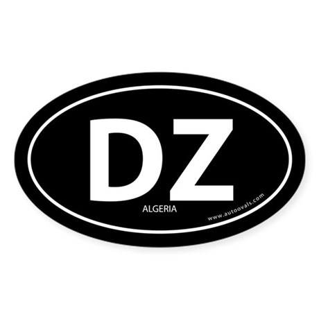 Algeria country bumper sticker -Black (Oval)