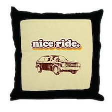 Nice Ride Throw Pillow