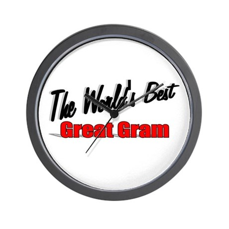 """The World's Best Great Gram"" Wall Clock"
