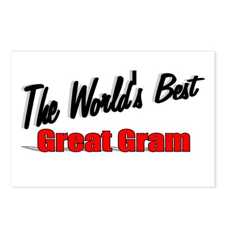 """The World's Best Great Gram"" Postcards (Package o"