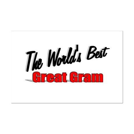 """The World's Best Great Gram"" Mini Poster Print"