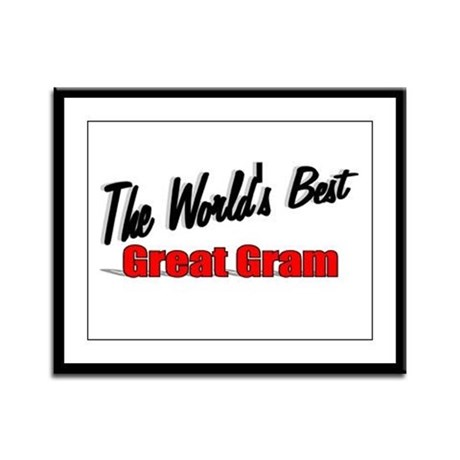 """The World's Best Great Gram"" Framed Panel Print"