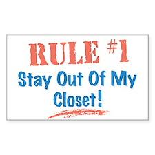 Rule #1 Closet Decal