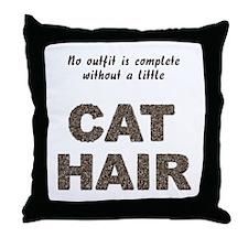 Cat Hair Throw Pillow