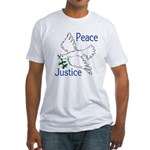 Peace and Justice Dove (Fitted T-Shirt)
