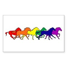 Horses Running Wild Rectangle Bumper Stickers