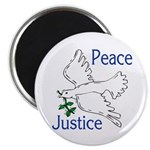 Peace and Justice with Flying Dove Magnet