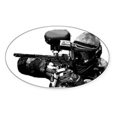 Paintball Wargamer / B & W - Euro Oval Decal