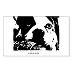 SAD DOG Rectangle Sticker