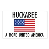 Huckabee Flag Rectangle Decal