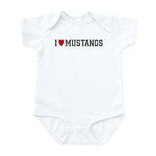 I Love Mustangs Onesie