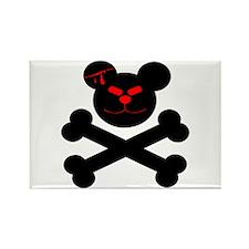 Evil Teddy Bear Rectangle Magnet