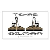 Texas Oilman Rectangle Decal