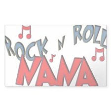 Rock n Roll Nana Rectangle Decal