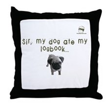 Sir, my dog ate my logbook PU Throw Pillow