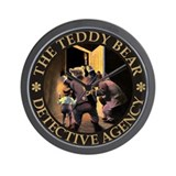 TEDDY BEAR DETECTIVES Wall Clock