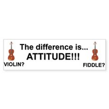 Violin Fiddle Attitude! Bumper Bumper Sticker