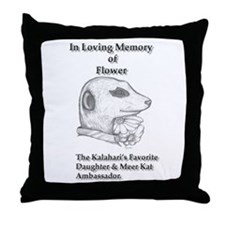 flower tribute Throw Pillow