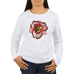 Red Ruffled Daylily Women's Long Sleeve T-Shirt