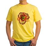 Red Ruffled Daylily Yellow T-Shirt