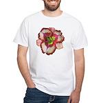 Red Ruffled Daylily White T-Shirt