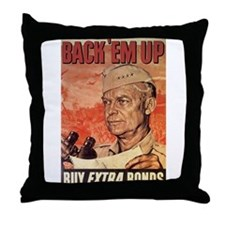 Back Em Up Throw Pillow