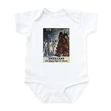 Americans Will Always Fight F Infant Bodysuit