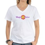 Happy Solstice Women's V-Neck T-Shirt