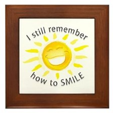 Still Remember How to Smile Framed Tile