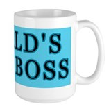 Blue World's Best Boss Mug