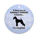 Heavenly Airedale Terriers Ornament