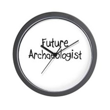 Future Archaeologist Wall Clock