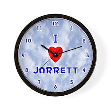 I Love Jarrett (Blue) Valentine Wall Clock