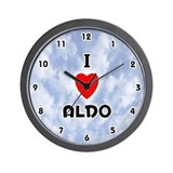 I Love Aldo (Black) Valentine Wall Clock