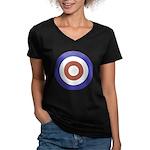 Mod Rocker Women's V-Neck Dark T-Shirt