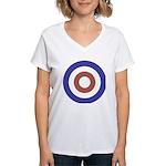 Mod Rocker Women's V-Neck T-Shirt