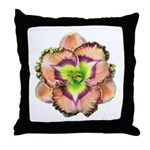 Lavender Pink Daylily Throw Pillow