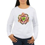 Lavender Pink Daylily Women's Long Sleeve T-Shirt
