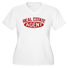REAL ESTATE AGENT (Red) Plus Size V-Neck T-Shirt