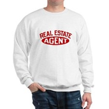 REAL ESTATE AGENT (Red) Sweatshirt