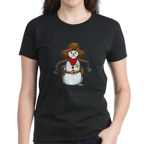 Snowman Cowboy Women's Dark T-Shirt