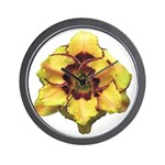 Peach Double Daylily Wall Clock