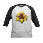 Peach Double Daylily Kids Baseball Jersey