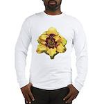 Peach Double Daylily Long Sleeve T-Shirt