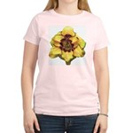 Peach Double Daylily Women's Light T-Shirt