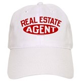 REAL ESTATE AGENT (Red) Baseball Cap for the Realtor
