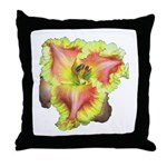 Pink w/ Ruffles Daylily Throw Pillow