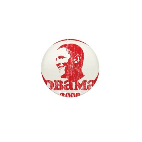 Barack Obama 2008 (Red Vintag Mini Button